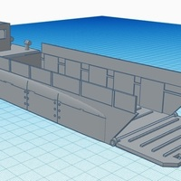 Small Landing craft World War Two - Wargame scenery 3D Printing 142463
