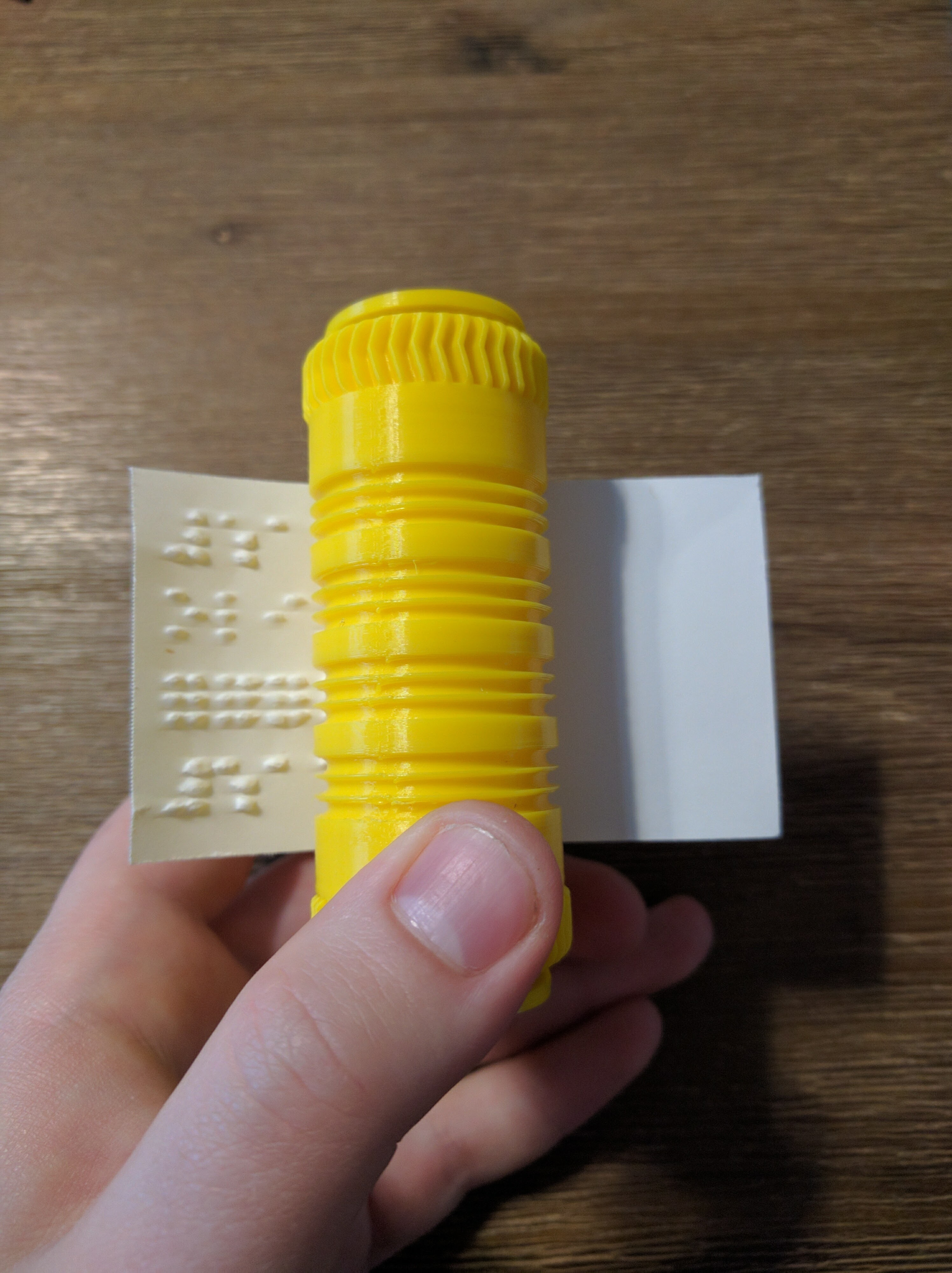 3D Printed Braille business card writer by Olivier Chabot | Pinshape