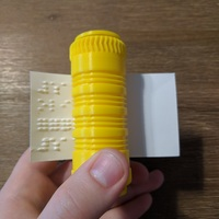 Small Braille business card writer 3D Printing 142479