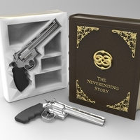 Small The Secret Book Box & Gun (Colt Python .357 Magnum) 3D Printing 142486