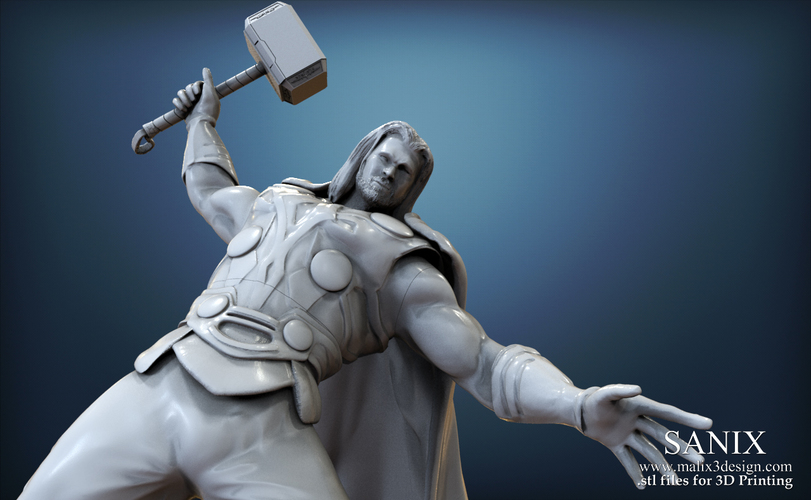 It39s a Thor 3D paper model free printable Looks pretty cool Thor