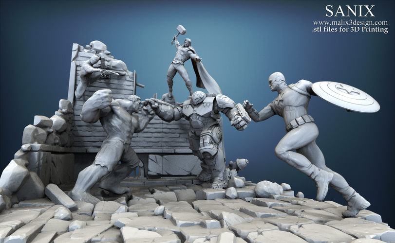 Avenger Scene – THOR Son of Asgard 3D Printable Model 3D Print 142563