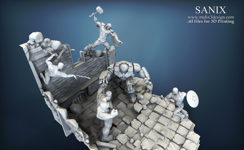 Avenger Scene – THOR Son of Asgard 3D Printable Model 3D Print 142564