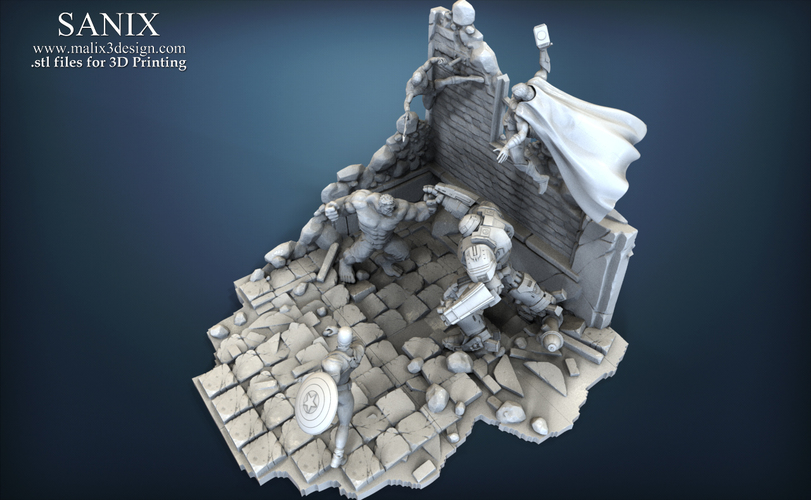 Avenger Scene – THOR Son of Asgard 3D Printable Model 3D Print 142565