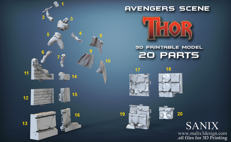 Avenger Scene – THOR Son of Asgard 3D Printable Model 3D Print 142567