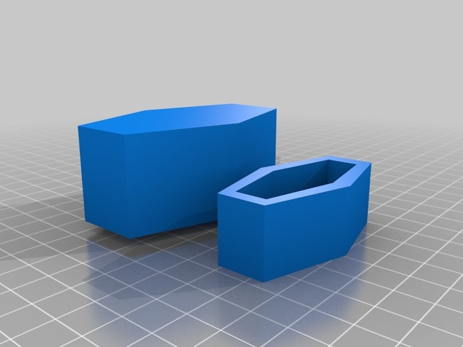 coffin shaped box 3D Print 14259