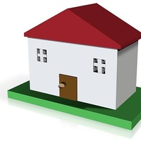 Small model house 3D Printing 14261
