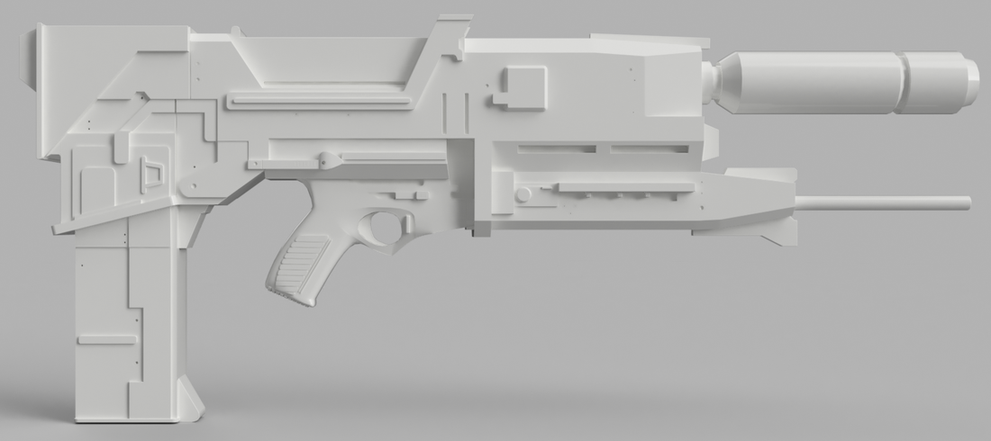 Phased Plasma Rifle in the 40 Watt Range (Terminator) 3D Print 142648