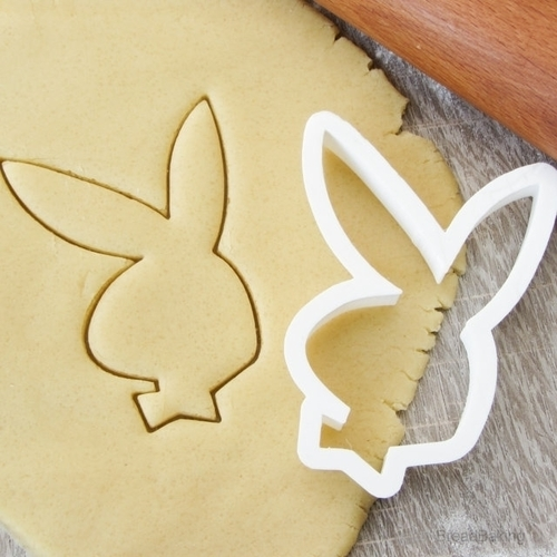 Bunny Playboy cookie cutter for professional 3D Print 142746