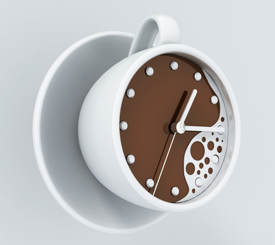 clock-coffee 3D Print 142764