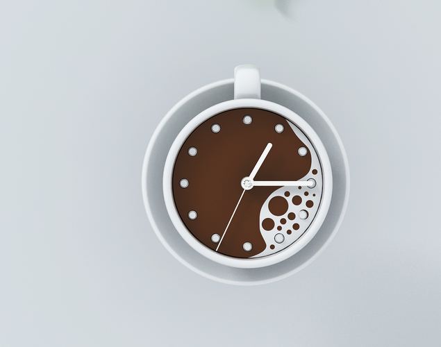 clock-coffee 3D Print 142765