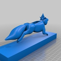 Small for plastics fox and gnome void speaker with stand 3D Printing 14289