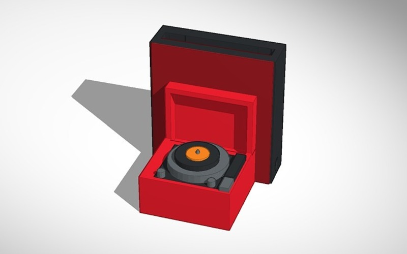 record player iphone speaker 3D Print 14291