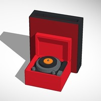 Small record player iphone speaker 3D Printing 14291