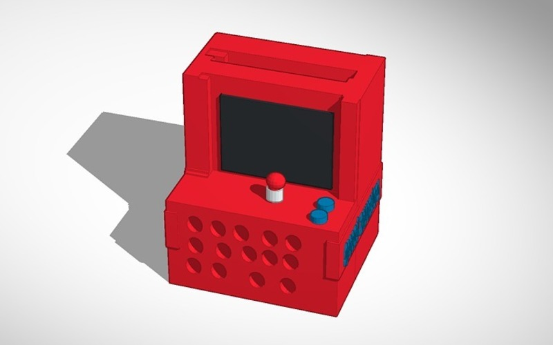Computer arcade iphone speaker printable in anything 3D Print 14293