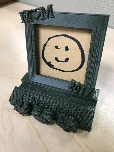 "2017 Mother's Day 2""x2"" Picture Frame Phone Stand 3D Print 142935"