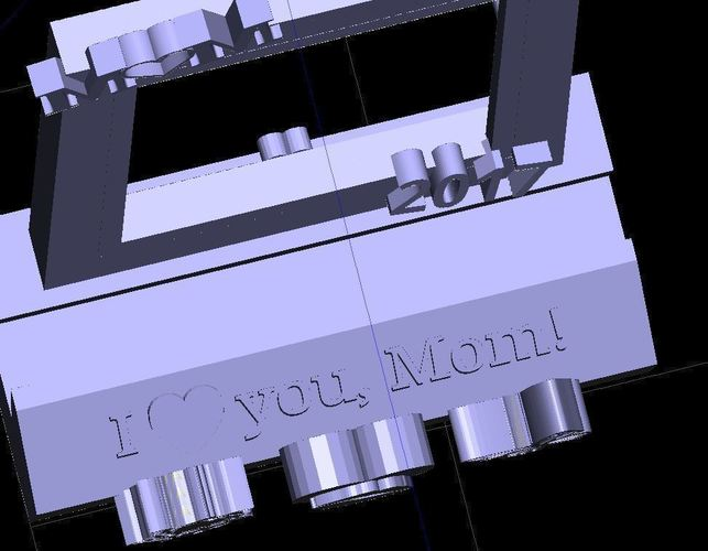 "2017 Mother's Day 2""x2"" Picture Frame Phone Stand 3D Print 142937"