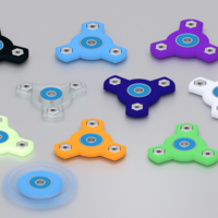 Small Three Spoke Fidget Spinner 3D Printing 143001