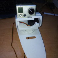 Small Pan&tilt SkyWalker Gopro Hero & WiDv 3D Printing 143103