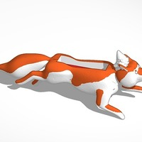 Small fox with gnome Iphone 4 speaker 3D Printing 14316