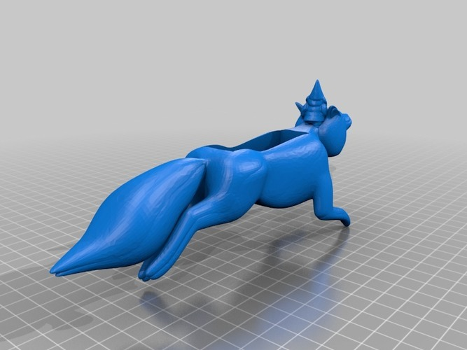 fox with gnome Iphone 4 speaker 3D Print 14317