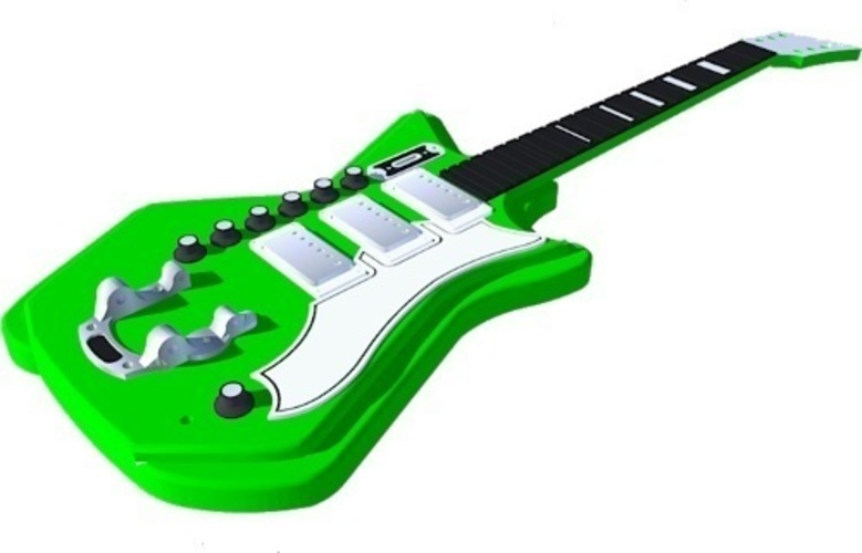 Airline 3P DLX guitar in perfect scale 1:4 fully 3D printable 3D Print 143170