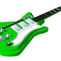Small Airline 3P DLX guitar in perfect scale 1:4 fully 3D printable 3D Printing 143170