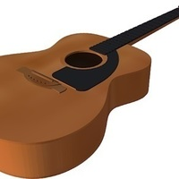 Small Acoustic guitar in scale 1:4, fully 3D printable 3D Printing 143172
