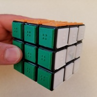 Small Rubik's Cube Braille Tiles  3D Printing 143199