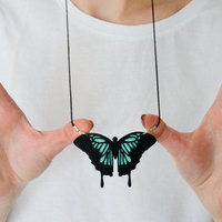 Small Butterfly Necklace 3D Printing 143275