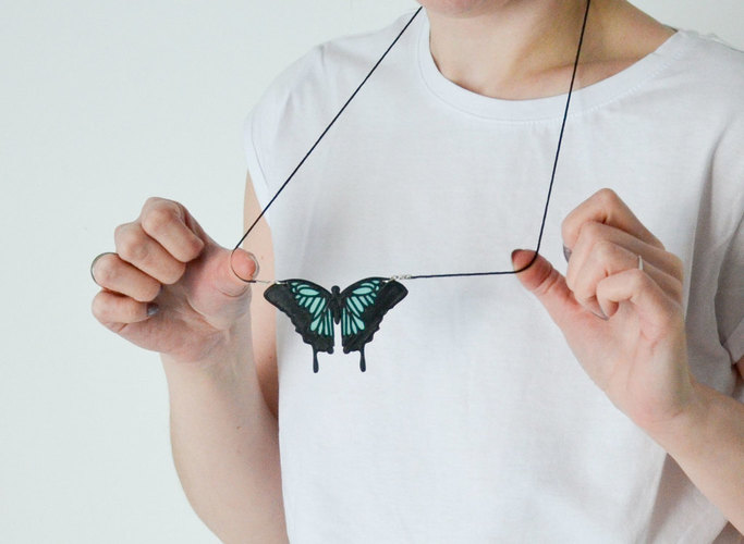 Butterfly Necklace 3D Print 143278