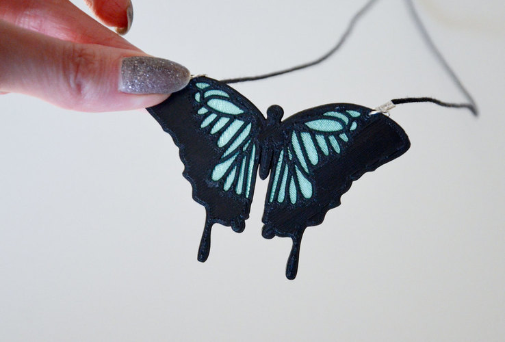 Butterfly Necklace 3D Print 143279