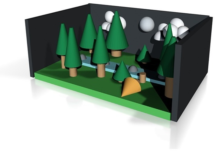 night in the pine forest 3D Print 14331
