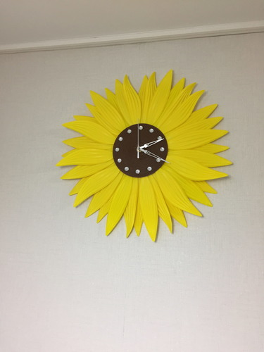 clock-sunflower 3D Print 143322