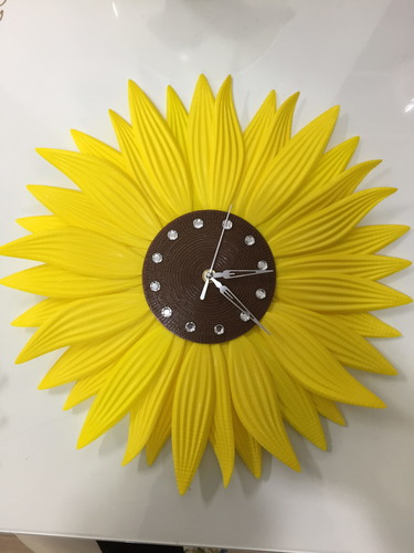 clock-sunflower 3D Print 143323