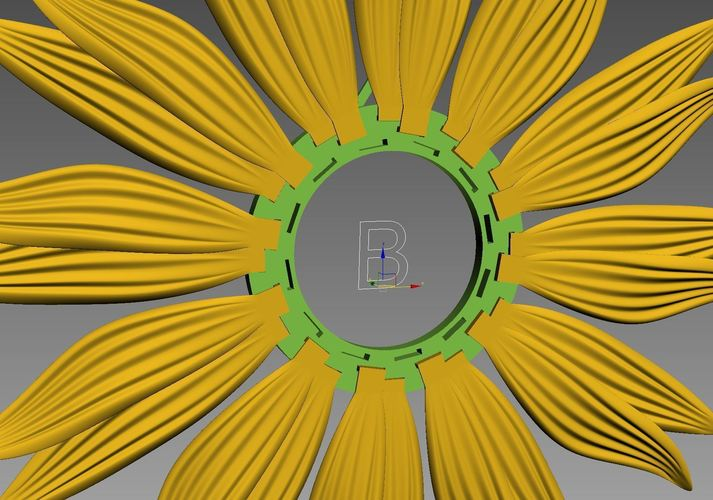 clock-sunflower 3D Print 143325