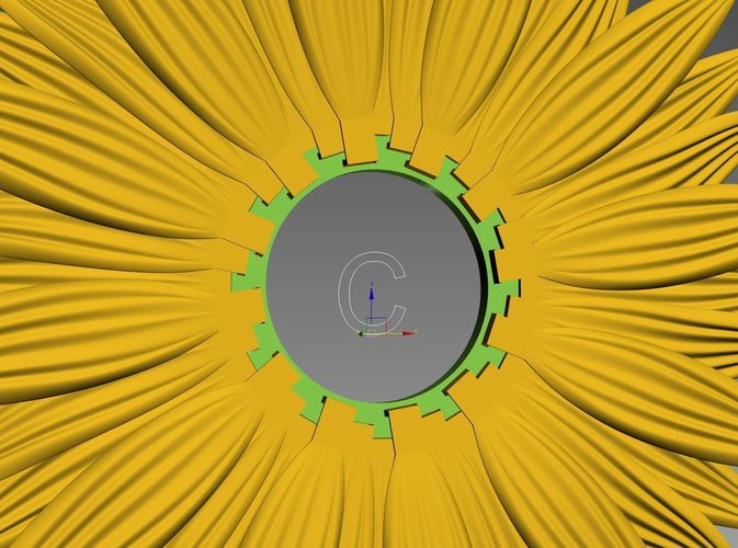 clock-sunflower 3D Print 143326