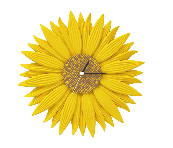 clock-sunflower 3D Print 143333