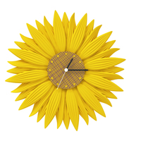 Small clock-sunflower 3D Printing 143333
