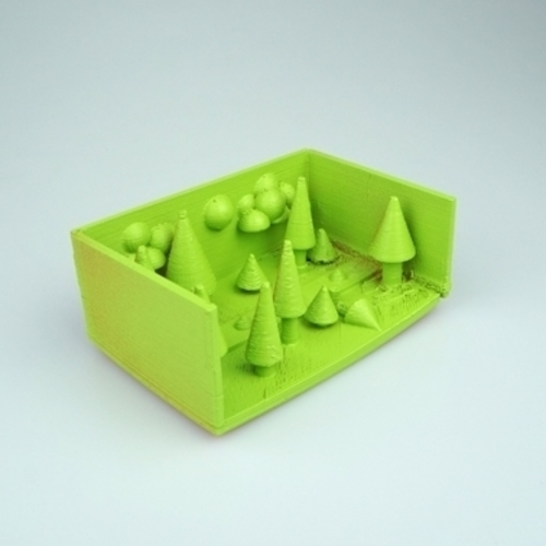 night in the pine forest 3D Print 14334