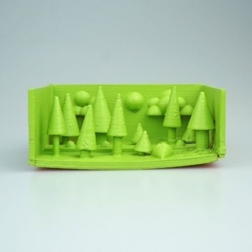night in the pine forest 3D Print 14335