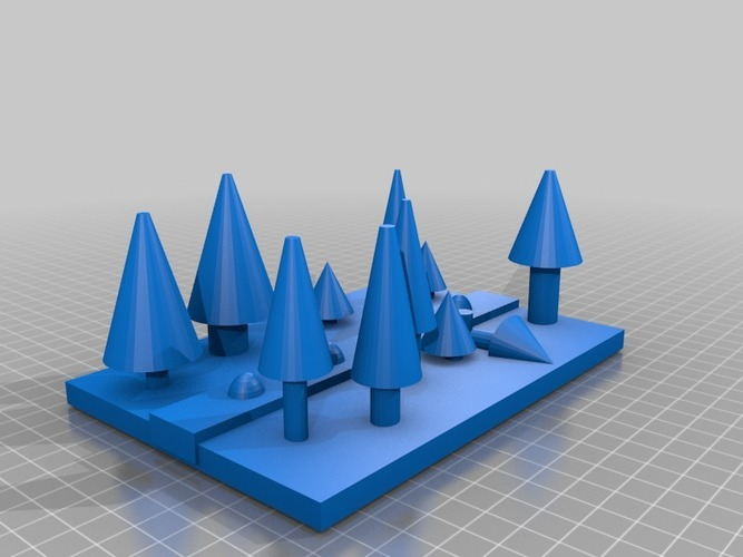 pine forest  with river 3D Print 14339