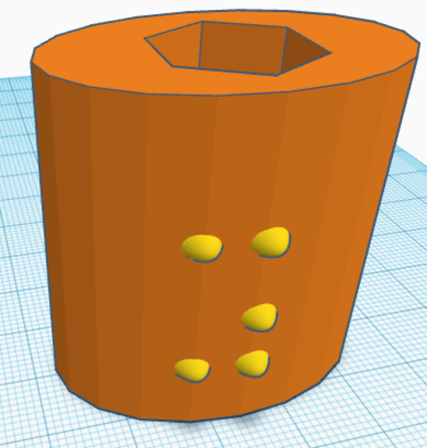Braille Pencil Toppers in Orthographic perspective  3D Print 143445