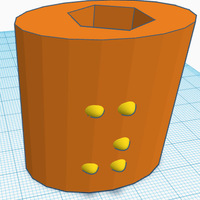 Small Braille Pencil Toppers in Orthographic perspective  3D Printing 143445
