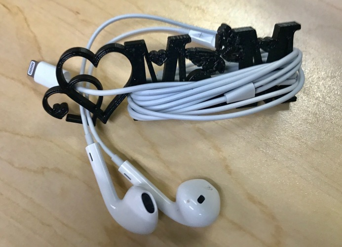 2017 Mother's Day iPhone Earphone Cord Organizer  3D Print 143454