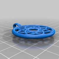 Small rose pendant 3D Printing 14348