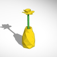 Small daffodil in vase 3D Printing 14355
