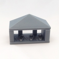 Small vampire crypt 2 part no printing supports needed 3D Printing 14360