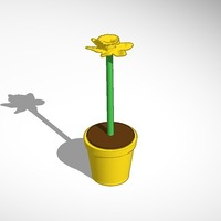 Small daffodil in yellow pot 3D Printing 14365