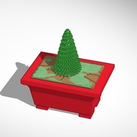 Small bonsai pine tree 3D Printing 14368